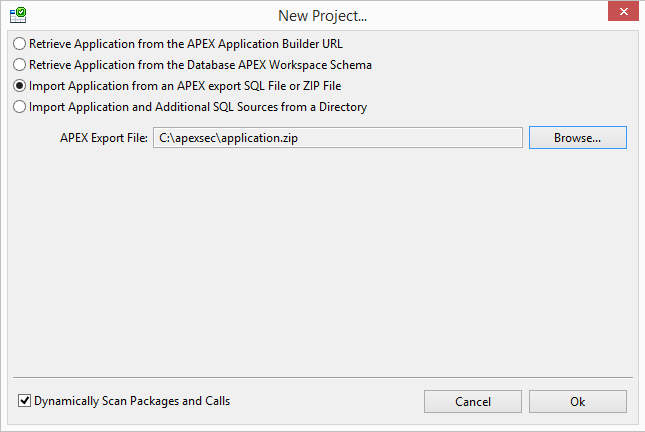 Creating a new project | ApexSec